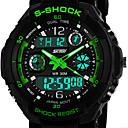 män klocka sport klocka med dubbla tidszoner kronograf kalender