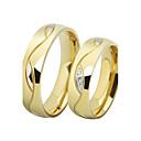 Mode-Liebhaber Edelstahl 18K Gold überzogene Paar Ringe (2 Stück)