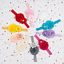 Infantil banda Cabelo Headwear cabelo com flor do diamante Faixa de Cabelo