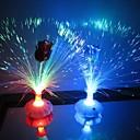 Coway En rose Flaske Optical Fiber blomst farverige LED Night Light (tilfældig farve)