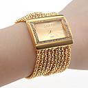 Reloj tipo Brazalete con Diamantes, de Mujer (Dorado)