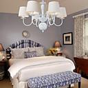 American Pendant Lamp Six Lights Steel and Fabric (8266-6)