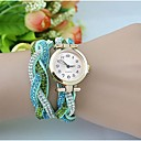 Women's Fashion  Crystal Leather Winding Bracelet Watch(Assorted Colors)