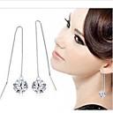 moda argento otto cardiaci, otto frecce orecchini lunghi orecchini di goccia