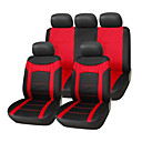 9 PCS Set Fabric Fish Net Stitching Seat Covers Universal Fit Car Accessories