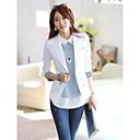 kvinders koreanske skrædder krave splejsning farve monteret langærmet blazer