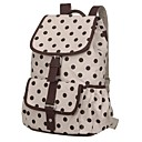 Women's Polka Dots Canvas Backpack
