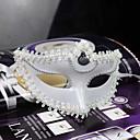 masque en plastique dentelle Halloween mystérieuse de partie de costume (de couleurs assorties)