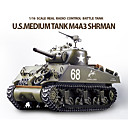 Heng Long SHERMAN M4A3 1/16 Scale RC Battle Tank with Simulated Smoke
