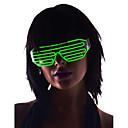 oplichten tinten glazen el draad geleid gloed zonnebril 2AA batterijen (assorti kleur)
