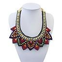 Women's Ethnic Bling-bling Mini Beads Sweatershirt Bib Statement Necklace