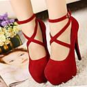 Zapatos de mujer - Tacón Stiletto - Tacones - Tacones - Vestido - Ante - Negro / Azul / Rojo