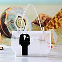 Chic Bride & Groom Wedding Favor Bag (Set of 12)