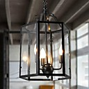 Vintage Glass  3-light Pendant Light