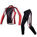 Trajes ( Negro/Rojo/Blanco ) - Transpirable/Capilaridad/Compresión - de Ciclismo/triatlón - de Mangas largas - para Hombres