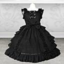 Sweet Lady Sleeveless Knee-length Black Cotton School Lolita Dress