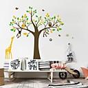 wall stickers Vægoverføringsbilleder, planteskole giraf abe home decor pvc wall stickers