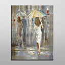 Hand Painted Abstract People Oil Painting with Stretched Frame Ready to Hang