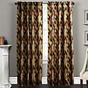 二つのパネル現代の水墨画暖色系抽象的な装飾カーテンのカーテン