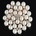 Women's Pearl/Alloy Brooch Silver