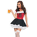 Sweet Beer Girl Red and Black Women's Costume(free size)