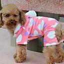 Dog Coat / Hoodie Pink Winter Hearts