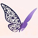 24pcs Laser Cut Butterfly Cup Name Place Escort Card for Wine Glass Wedding Baby Shower Christmas Party Decoration