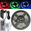 5M 150X5050 SMD RGB LED Strip Light and 44Key Remote Controller and 3A EU Power Supply (AC110-240V)