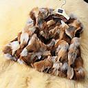 Fur Coat 3/4 Sleeve Turndown Fox Fur Special Occasion/Casual Fur Coat(More Colors)