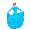 Ballroom Dance Outfits / Dresses Women's Performance / Training Mercerized Cotton Sequins Black / Light Blue / Red BallroomSpring, Fall,