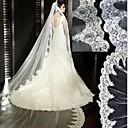 One-tire Lace Edge White Wedding Dresses Bridal Veils(More Colors)
