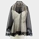Véus de Noiva monista rosto coberto de renda branco preto mais cores