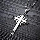 kühlen klassische Cross Titan Stahl Halskette Mann