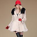Fur Coat Long Sleeve Hooded Rabbit Fur&Raccoon Fur Special Occasion/Casual Fur Coat(More Colors)