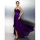 TS Couture® Formal Evening Dress - Grape Plus Sizes / Petite A-line Sweetheart Asymmetrical Chiffon