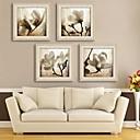 E-HOME® Framed Canvas Art, Magnolia Framed Canvas Print Set of  4