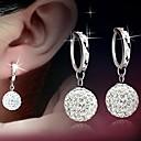 Orecchini di diamanti Argento 925 Shambhala con orecchini palla principessa