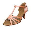 Scarpe da ballo - Non personalizzabile - Donna - Latinoamericano / Sala da ballo - Tacco spesso - Satin - Rosa