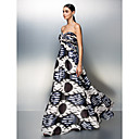 Prom / Formal Evening Dress - Print Plus Sizes / Petite A-line Strapless Floor-length Chiffon