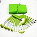 24pcs vert frais professionnelle de haute qualité pinceau de maquillage ensemble