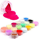 18 Colors Professional Glitter Colourful Carving Pattern Acrylic Powder Nail Art Kit