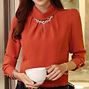 Women's Lapel Solid Color Slim Blouse(More Colors)