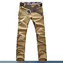 Men's Black/Brown/Blue Pure Color Cotton Casual Long Pants(5 Colors)