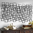 E-HOME® Metal Wall Art Wall Decor, Square Pattern Stitching Wall Decor One PCS