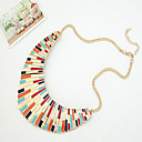 Women's Fan-shaped Colorful Alloy Necklace