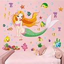 aftagelig smukke hav-maid formet børneværelse væg sticker