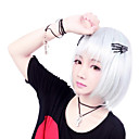 Zipper Little Devil Silver Short Bob Gothic Lolita Wig