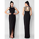 TS Couture Formal Evening Dress - Black Plus Sizes / Petite Sheath/Column Jewel Asymmetrical Chiffon
