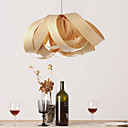 Inspiration Veneer Chandelier, E27 1 Light, Restaurant light, Hall light, 55cm