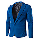 Men's Long Sleeve Regular Blazer,Cotton Blend Solid